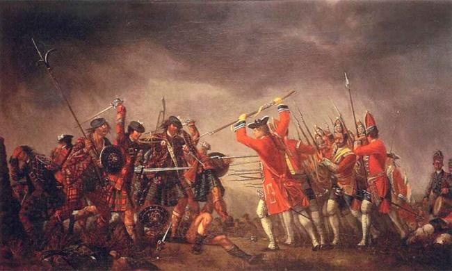 La battaglia di Culloden di David Morier 1746