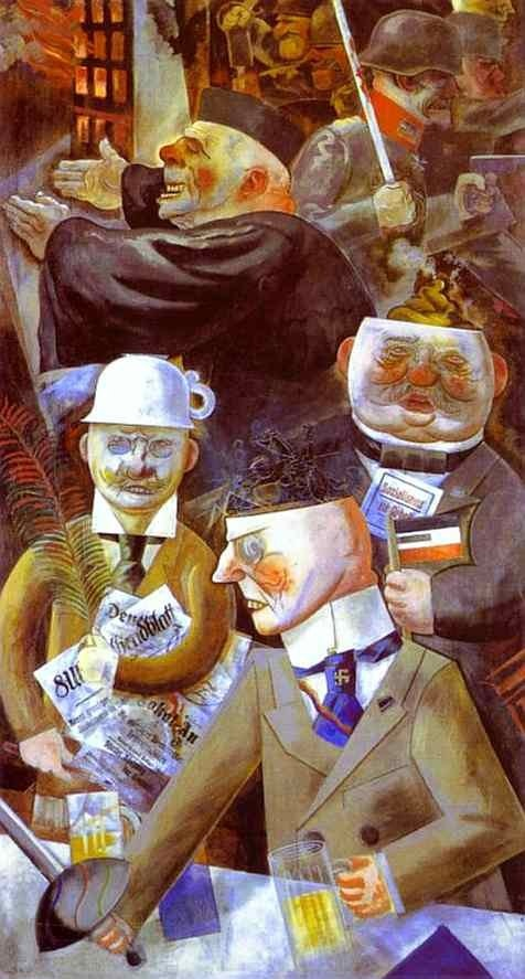 The pillars of society by George Grosz - 1920
