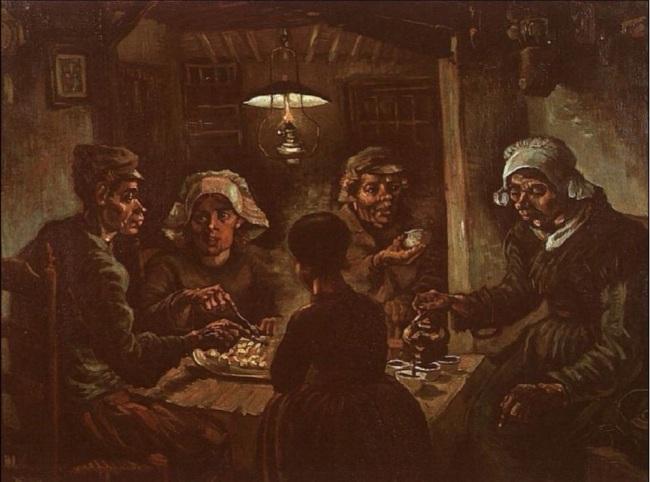 I mangiatori di patate di Van Gogh - 1885